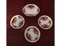 Royal Albert Sweet Dish and Butter Dishes