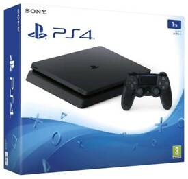 SONY PLAYSTATION 4 1TB JET BLACK BRAND NEW.