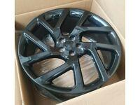 "Evoque Discovery Sport Velar x4 20"" V-Lar Style Alloy Wheels Black 5x108"
