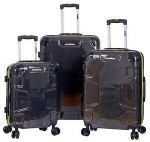 "IRONMAN Hard Side 3 Piece Luggage Set including a 20"", 24"", And 28"" Spinners (Charcoal)"