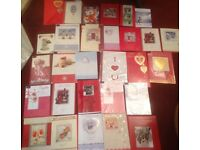 Large bundle29 Christmas cards various big good quality ideal market stall carboot self bargain