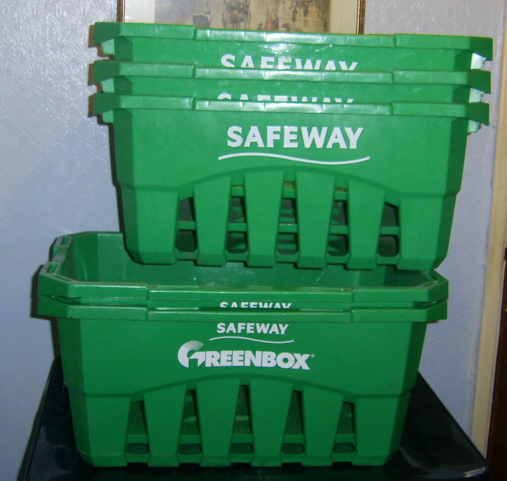 5 Safeway Storage Boxes (Greenbox)