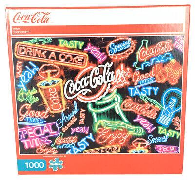 Coca-Cola Neon Fluorescent 1000 Piece Jigsaw Puzzle