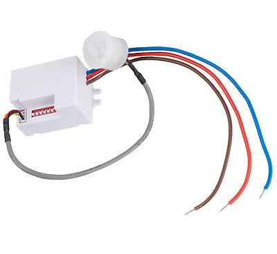 Mini Bewegungsmelder 360° zum Einbau Sensor PIR Unterputz für LED Detector 800W