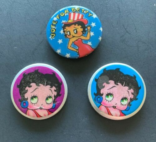 3 Betty Boop Pinbacks
