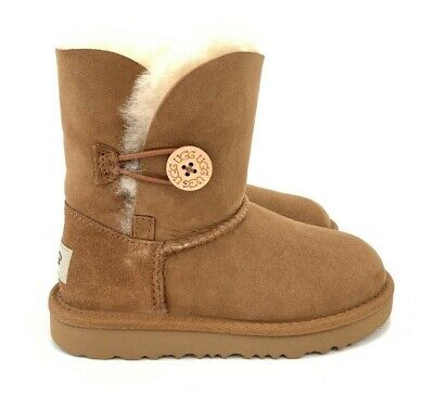 Kids Bailey Button (UGG Kids Bailey Button II Suede Chestnut Kids or Toddler Girl Boots 1017400K,)