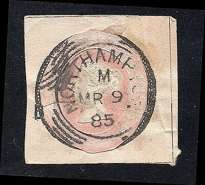 Great Britain 1885 Cut Square 1p