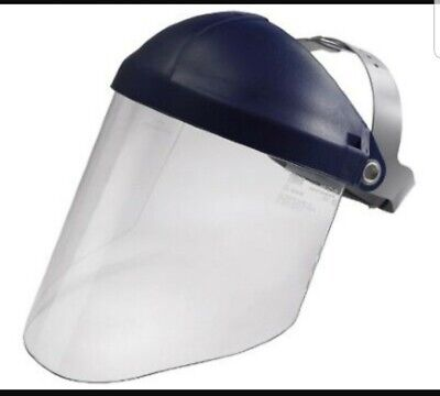 3m Safety Pc Face Shield Thermoplastic Pinlock Headgear Impact Heat Protection