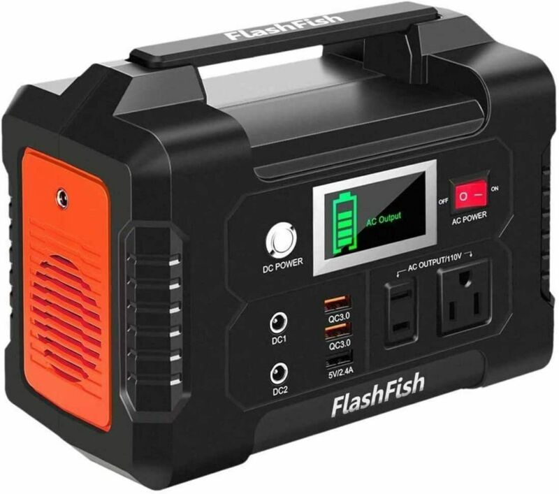 FlashFish 200W Portable Power Station 40800mAh Solar Generator