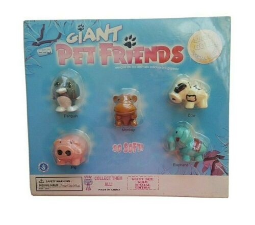 SquishLand Pet Friends Display Blister Pack with 5  Squishies