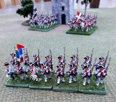 Seven Years War, 15 mm Miniatures, French Line Infantry, Painted