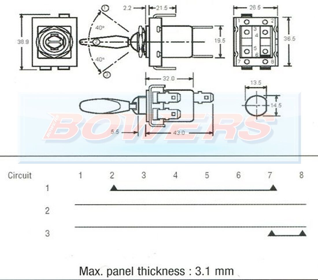 Lucas 31743 57sa 2a9074 On Off Indicator Toggle Flick Switch 62 Austin Healey Sprite Wiring Diagram Visit Our Store