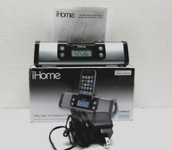 iHome Portable Alarm Clock Speaker Charger For iPhone And iPad