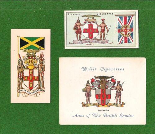 JAMAICA National Flag & emblem 1905 & 1938 original cards The Black Green & Gold