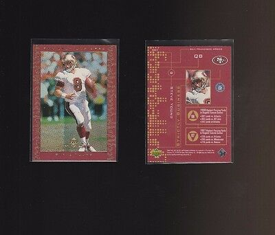 1999 Upper Deck MVP Strictly Business #SB4 Steve Young San Francisco 49ers