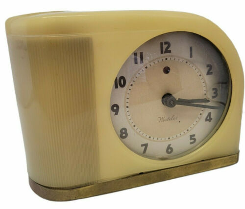 Westclox Alarm Clock Vintage Art Deco Model S5J Working Damaged Discounted Read