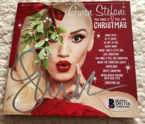 AUTOGRAPHED Gwen Stefani You Make It Feel Like Christmas Signed BGS Authentic