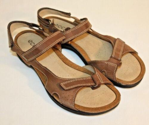 Ecco Womens Ladies Brown Open Toe Sandals Shoes Size EU 41 U.S. 10.5M