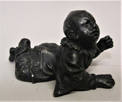 ceramic sculpture 7.5 x 2.5 x 2.5 Baby doll sculpture small ceramic sculpture Celadon Pillar