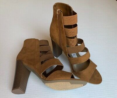 Guess Women's brown High Heels Cage  Gladiator  (Size 7.5) NEW 4 Inch -