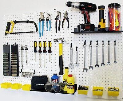 Wallpeg Pegboard Panels Shelves Bins Locking Peg Hooks For Tool Storage 48 W