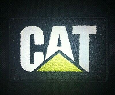 CAT PATCH CATERPILLAR PATCH REFLECTIVE PATCH AWESOME FOR APPARELS 3.46