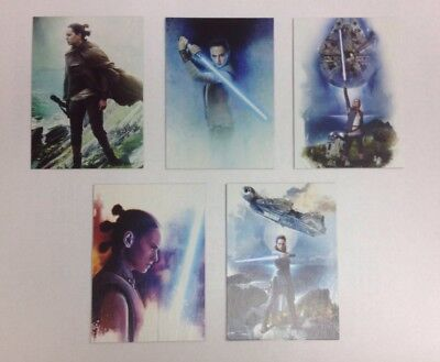 2017 TOPPS STAR WARS JOURNEY TO THE LAST JEDI REY CONTINUITY COMPLETE SET 1-5