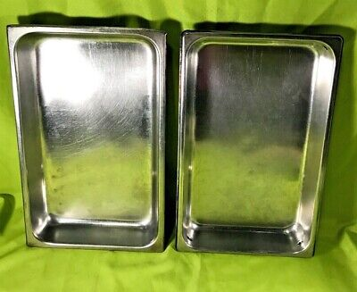 Unbranded Stainless Steel Full Size Steam Table Pans 2.5 Deep Lot Of 2