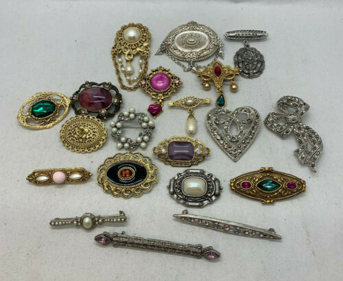 1928 Statement Brooches/Pins (Pick Your Pin) Simple, Elegant, Silver, Gold Tone
