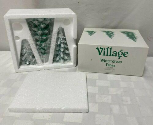 Dept 56 Village Wintergreen 3 Pine Trees 52660