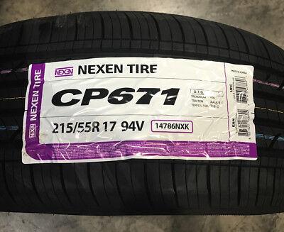 4 New 215 55 17 Nexen CP671 Tires