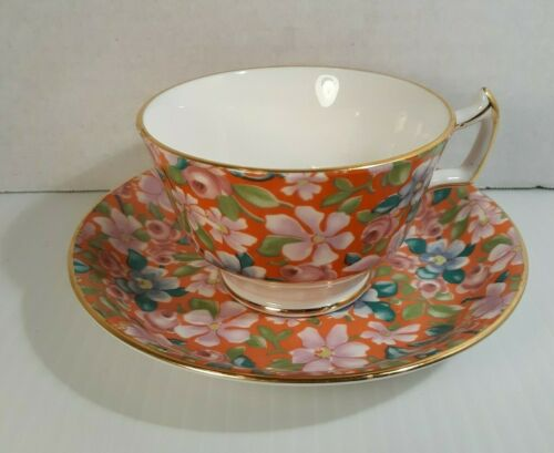 HTF Pattern Hammersley & Co. Bone China Tea Cup & Saucer Set