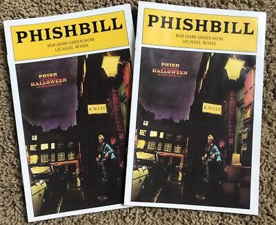 Phishbill Playbill Phish Halloween MGM Arena Las Vegas 10/31 Trey,Mike,Jon,Page](Halloween 31 10)
