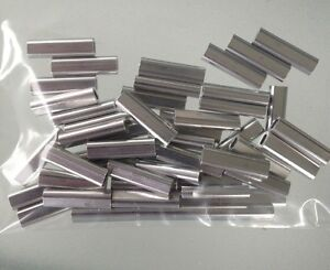 100 x ALLOY CRIMPS .80mm ID (short crimp)