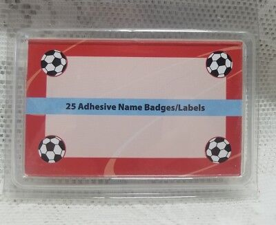 Name Badges Labels Soccer Balls
