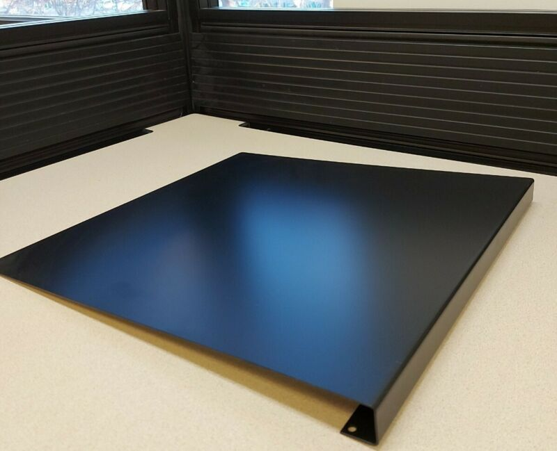 Black Metal Keyboard Support Corner Total Office for Adjustable Keyboard Trays