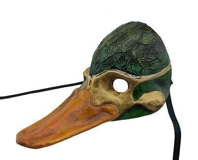Mask Fancy Duck Neckband Green in Paper Mache - 2166 -MIL5