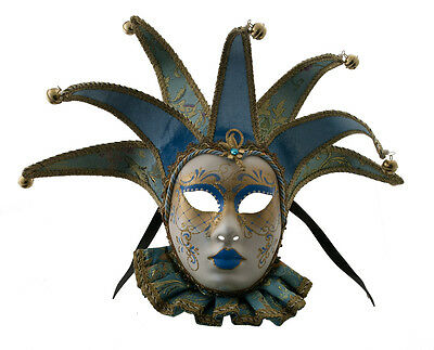 Mask Venice Volto Jolly to Bavaria Blue & Gold 7 Spikes Muse 1598