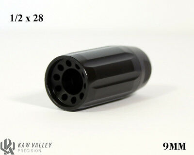 Kaw Valley Precision 9Mm 1 2X28 Black Oxide Linear Comp