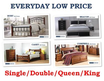 New Solid Timber Bed Frames - Mattress | Special Discount Sale