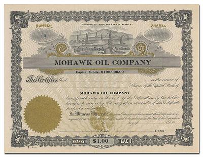 Mohawk Oil Company Stock Certificate (Kentucky)