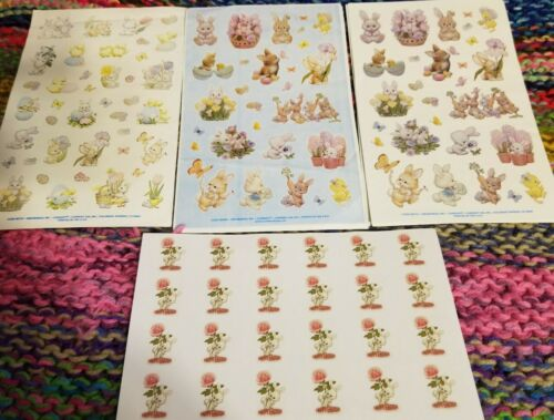 ONE Ruth Morehead EASTER Stickers with Bunnies You Choose Favorite Design