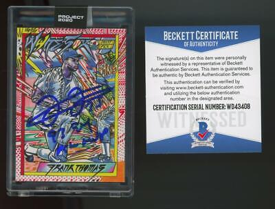 2020 Topps Project Blue Ink #193 Frank Thomas 1/5 Auto RC Rookie BGS/BAS