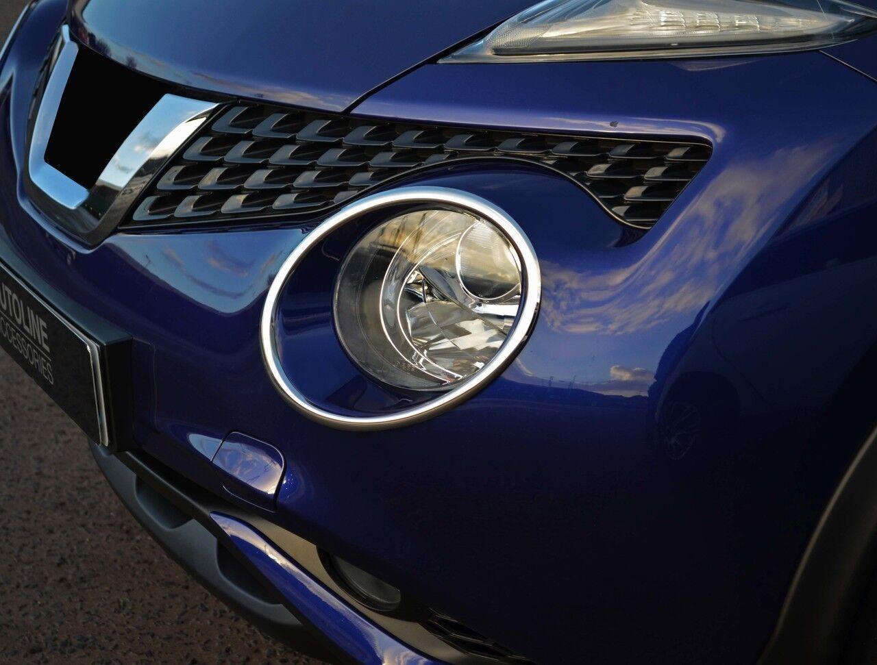 2014+ Chrome Headlight Headlamp Rim Surround Trim Covers To Fit Nissan Juke