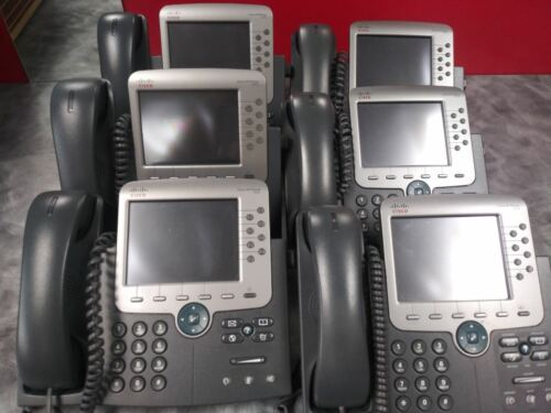 Cisco Model 7975 Unified IP Phone Lot of 6