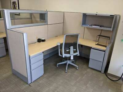 Nice Haworth 7x6 Office Cubicles Workstations -glass