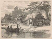 C1268 Brazil - San Mathias-tapera - Xilografia D'epoca - 1867 Vintage Engraving -  - ebay.it