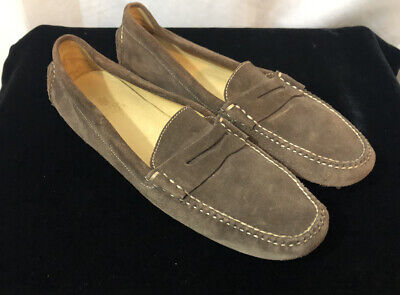 Peter Millar Brown Suede Slip On Loafers Driving Shoes Non Slip Size 10M