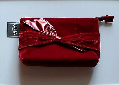 Ulta Red Velvet With Bow Cosmetic/ Makeup Travel Bag, New! Bow Cosmetic Bag Handbag