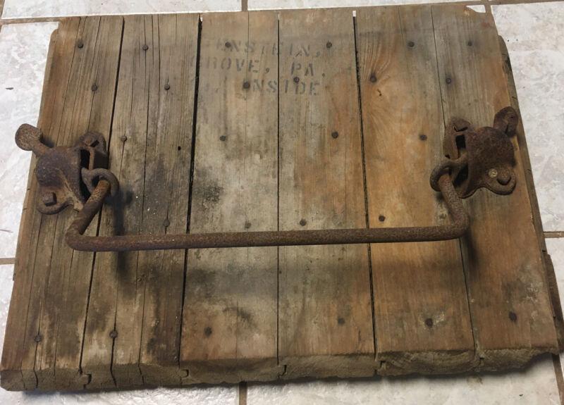 antique barn door handles/silo ladder
